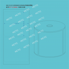 100MM x100MM Direct Thermal Label  NO.2119