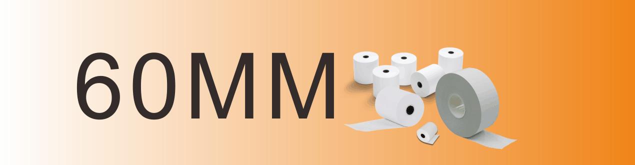 60mm機紙 入閘機 收銀機紙 POS機紙 熱敏紙  感熱紙  收銀紙  紙卷  紙
